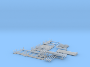 N Scale Chemical Storage Installation part 1 in Smooth Fine Detail Plastic