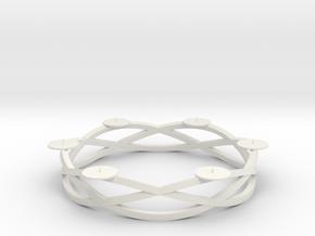 Circular candelabrum in White Natural Versatile Plastic