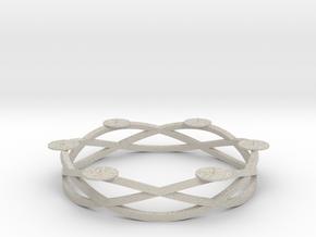 Circular candelabrum in Natural Sandstone