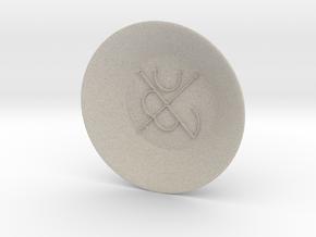 Seal of Mars Charging Bowl (large) in Natural Sandstone