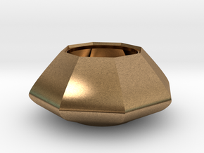 Sugar bowl - Circular to octagonal shape (only bow in Natural Brass