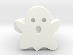 Small Ghost Ring in White Strong & Flexible Polished: 9 / 59