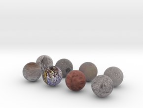 Moon and Dwarf Planet Pack 3 in Full Color Sandstone