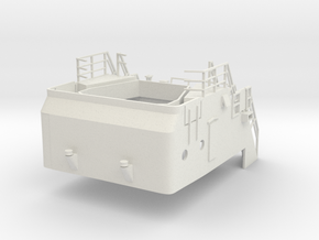 Superstructure 1/50 V60 fits Harbor Tug  in White Natural Versatile Plastic