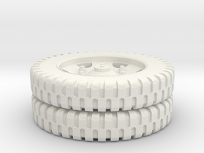 CCKW 7.5-20 NDT Rear Tire 1/72 in White Natural Versatile Plastic