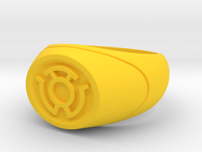 22.2 mm Yellow Lantern Ring - WotGL in Yellow Strong & Flexible Polished