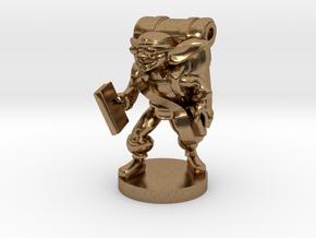Goblin Book Merchant in Natural Brass