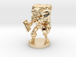 Goblin Book Merchant in 14k Gold Plated Brass