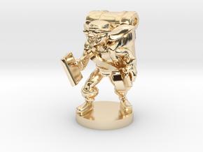 Goblin Book Merchant in 14k Gold Plated Brass