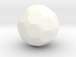 Blank D36 Sphere Dice in White Processed Versatile Plastic