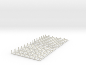 DiceMasters tray 6x6 - Mk I in White Natural Versatile Plastic