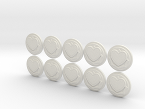Massive Darkness Stackable Wound Counters in White Natural Versatile Plastic