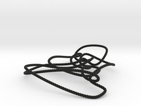 Thistlethwaite unknot (Rope) in Black Natural Versatile Plastic: Small