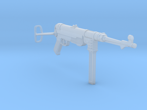 MP40 (unfolded) (1:18 scale) in Frosted Ultra Detail: 1:16