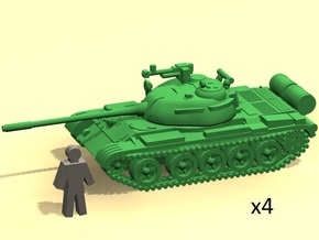 6mm 1/285 T-55 tanks in Smoothest Fine Detail Plastic