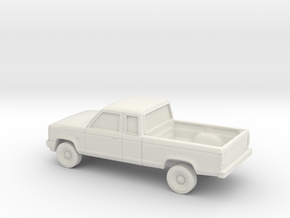 1/64 1989-92 Ford Ranger Ext. Cab in White Natural Versatile Plastic