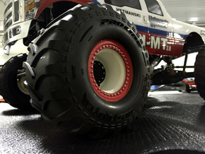2.2-inch Monster Jam Style Wheel in White Natural Versatile Plastic: 1:10