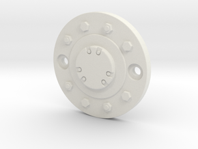 2.2-inch Wheel Cap in White Strong & Flexible: 1:10