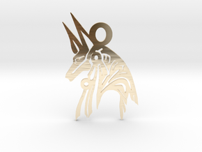 Anubis - Amulet - Abstract in 14k Gold Plated Brass