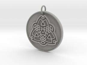 Tribal Triquetra in Metallic Plastic: Small