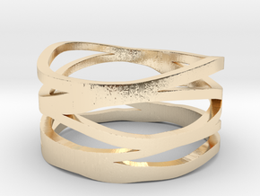 Strands Ring in 14k Gold Plated Brass