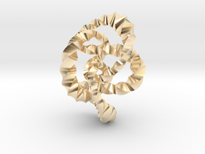 Knot 8₂₀ (Twisted square)  in 14k Gold Plated Brass: Extra Small