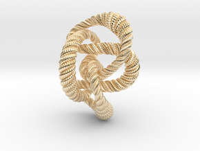 Knot 8₂₀ (Rope with detail)  in 14K Yellow Gold: Extra Small