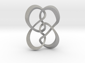 Symmetrical knot (Square) in Aluminum: Extra Small