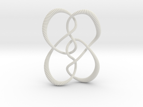 Symmetrical knot (Rope with detail) in White Natural Versatile Plastic: Small