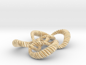 Symmetrical knot (Rope with detail) in 14k Gold Plated Brass: Medium