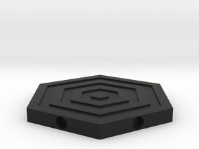 magnetic coaster in Black Natural Versatile Plastic