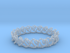 Chain stitch knot bracelet (Twisted square) in Smooth Fine Detail Plastic: Extra Small