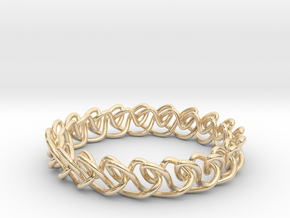 Chain stitch knot bracelet (Circle) in 14k Gold Plated Brass: Extra Small