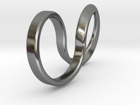 Mobius Hoop Ring in Polished Silver: 5 / 49