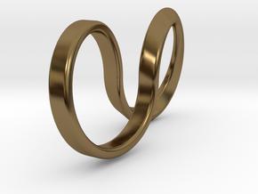 Mobius Hoop Ring in Polished Bronze: 5 / 49