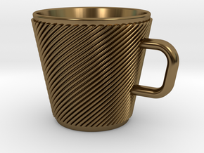 Espresso Cup - Precious metals in Polished Bronze