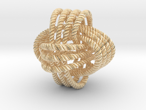 Monkey's fist knot (Rope with detail) in 14k Gold Plated Brass: Large