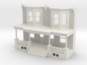 WEST PHILLY ROW HOME FRONT 87 TWINS in White Natural Versatile Plastic