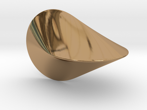 The Oloid: a mathematically perfect piece of art in Polished Brass