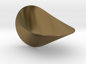 The Oloid: a mathematically perfect piece of art in Polished Bronze
