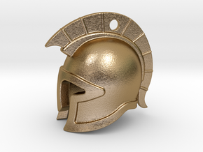 spartan helmet in Polished Gold Steel