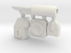 Modular Piston in White Natural Versatile Plastic