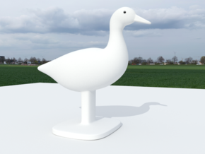 Duck Bird Stand in Natural Sandstone