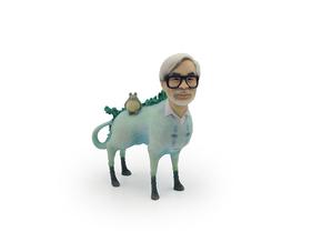 The Hiyatoro Miyazaki Spirit in Full Color Sandstone