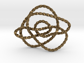 Ochiai unknot (Twisted square) in Natural Bronze: Extra Small