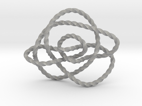Ochiai unknot (Twisted square) in Aluminum: Extra Small
