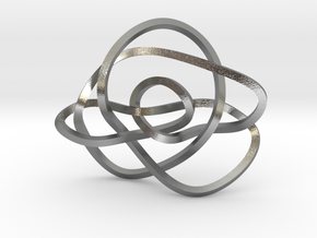 Ochiai unknot (Square) in Natural Silver: Extra Small
