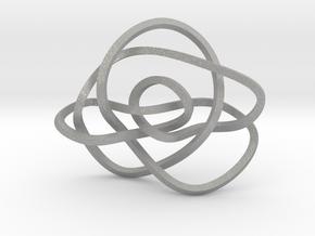 Ochiai unknot (Square) in Aluminum: Extra Small