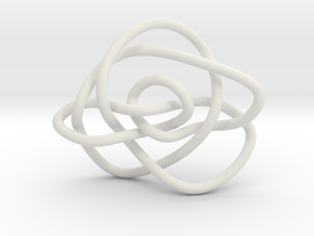 Ochiai unknot (Circle) in White Natural Versatile Plastic: Extra Small