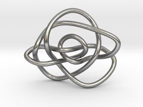 Ochiai unknot (Circle) in Natural Silver: Extra Small